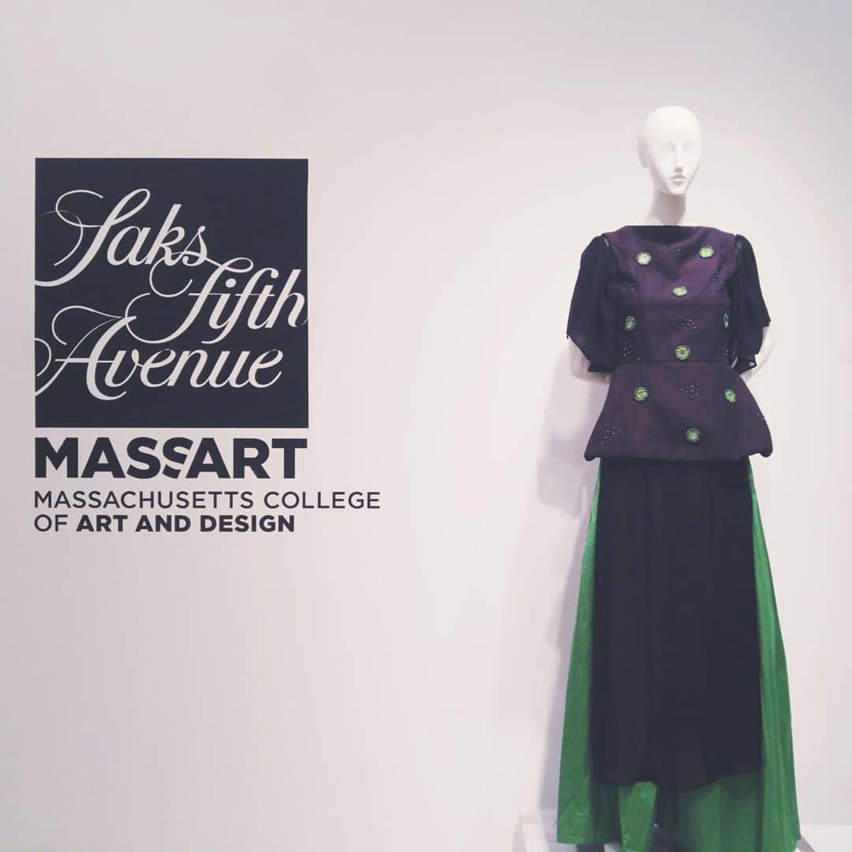 A Saks partnership with MassArt. Photo: @massartboston/Instagram