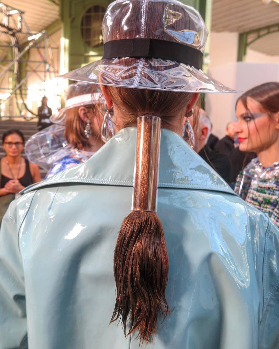 The hair at Chanel's Spring 2018 show. Photo: @sammcknight1/Instagram