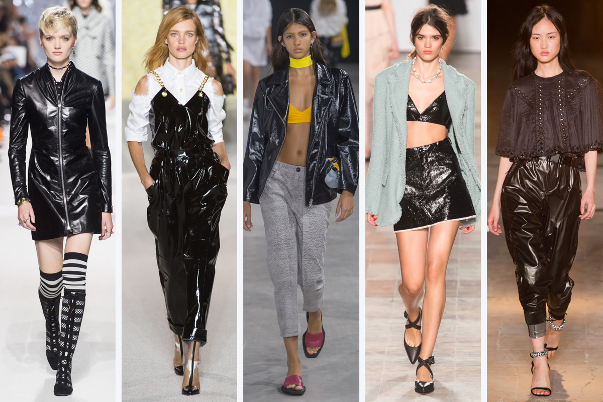 (L-R): Christian Dior, Balmain, Aalto, Sonia Rykiel and Isabel Marant. Photo: Imaxtree