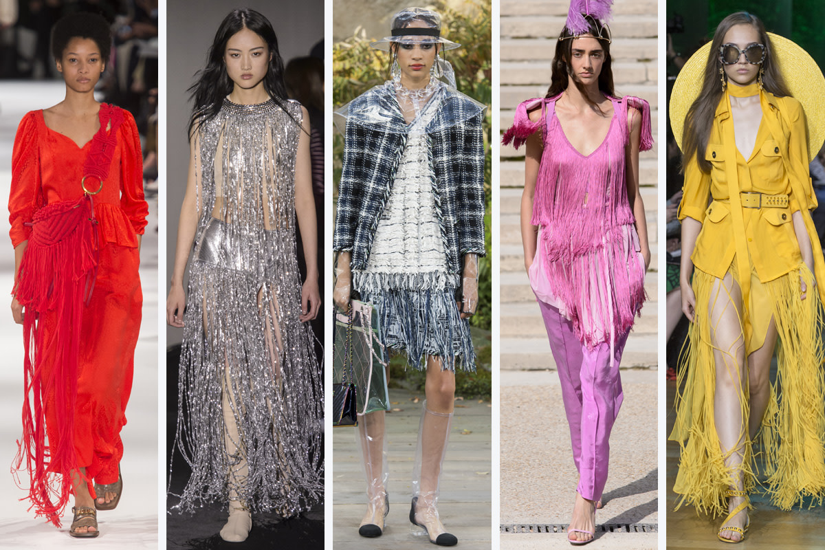 (L-R): Stella McCartney, Paco Rabanne, Chanel, Nina Ricci and Elie Saab. Photo: Imaxtree