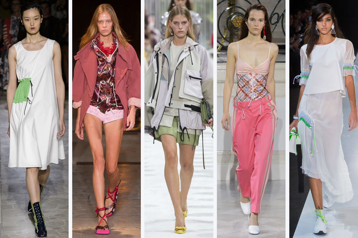 (L-R): Arthur Arbesser, Isabel Marant, Valentino, Peter Pilotto and Emporio Armani. Photos: Imaxtree