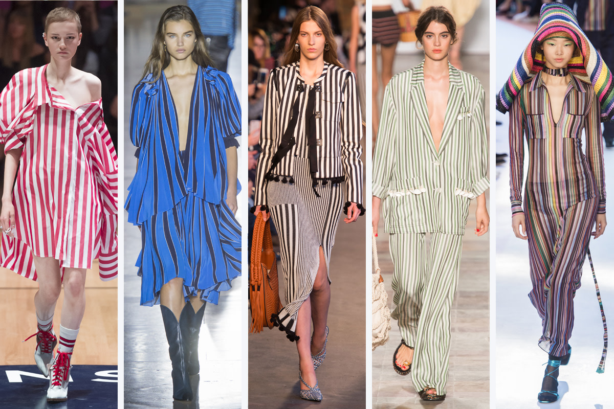 (L-R): Monse, Givenchy, Altuzarra, Sonia Rykiel and Missoni. Photos: Imaxtree