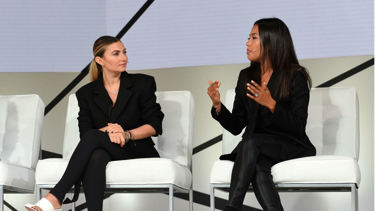 Nasiba Adilova and Emma Grede at Fashion Tech Forum. Photo: Graylock/Fashion Tech Forum