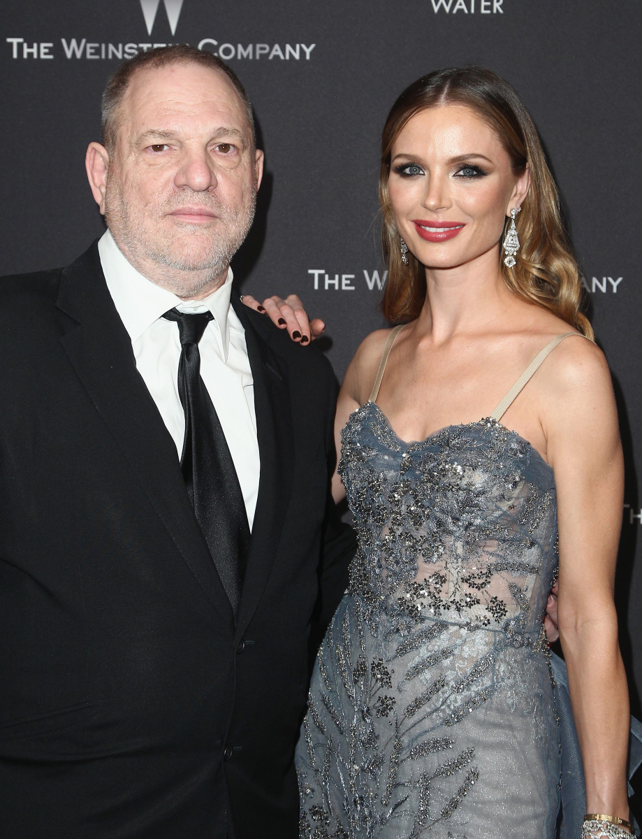 Harvey Weinstein and designer Georgina Chapman at The Weinstein Company and Netflix Golden Globe Party on January 8, 2017. Photo: Tommaso Boddi/Getty Images