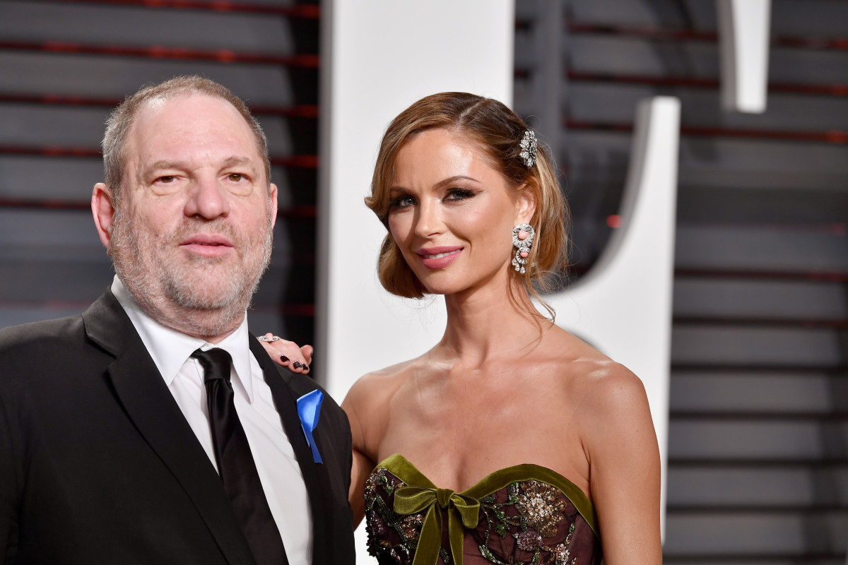 Producer Harvey Weinstein and designer Georgina Chapman at the 2017 Vanity Fair Oscar Party. Photo: Pascal Le Segretain/Getty Images