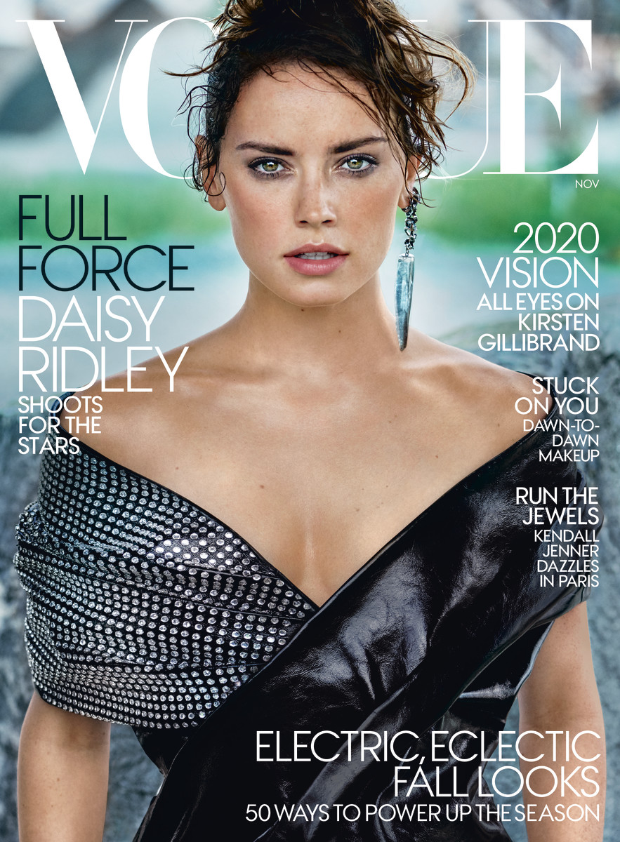 Daisy Ridley on the November cover of 'Vogue'. Photo: Mario Testino