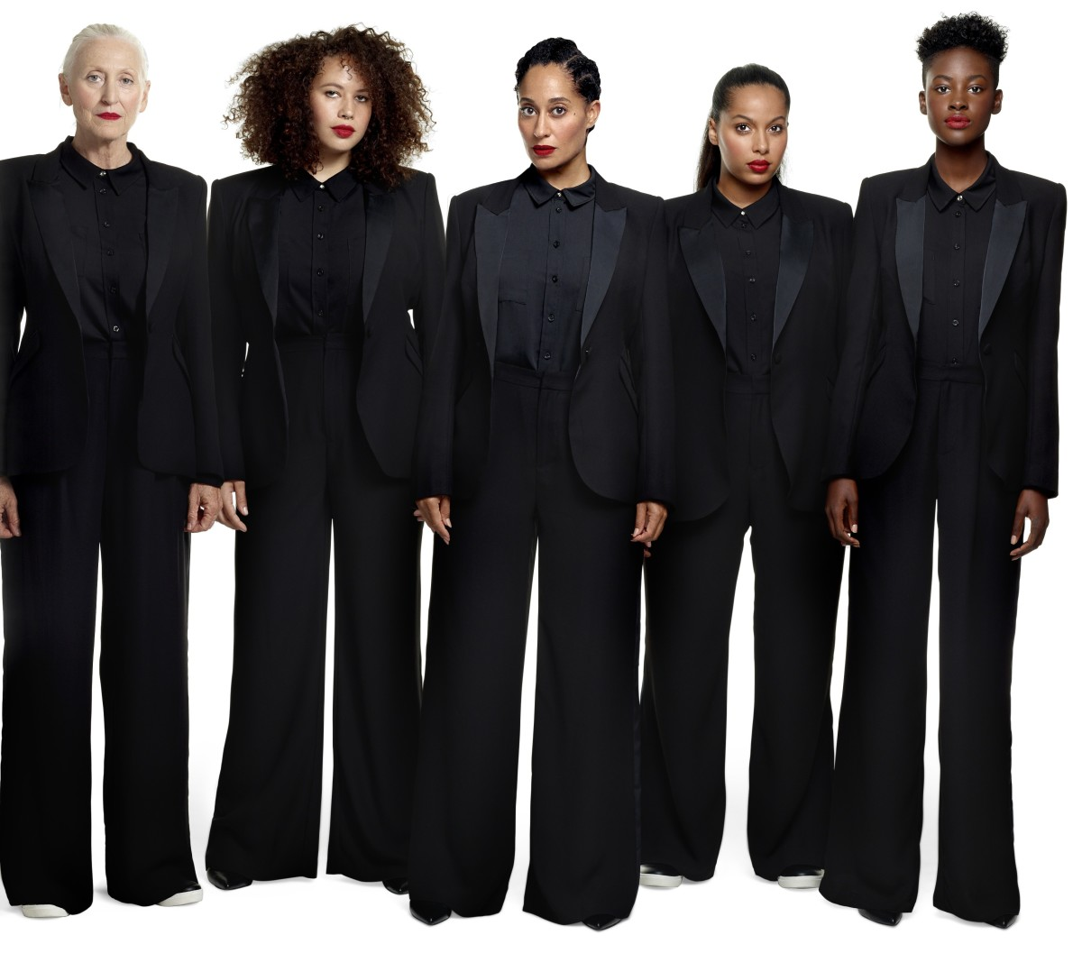 The tuxedos from the Tracee Ellis Ross for JCPenney collection. Photo: Courtesy
