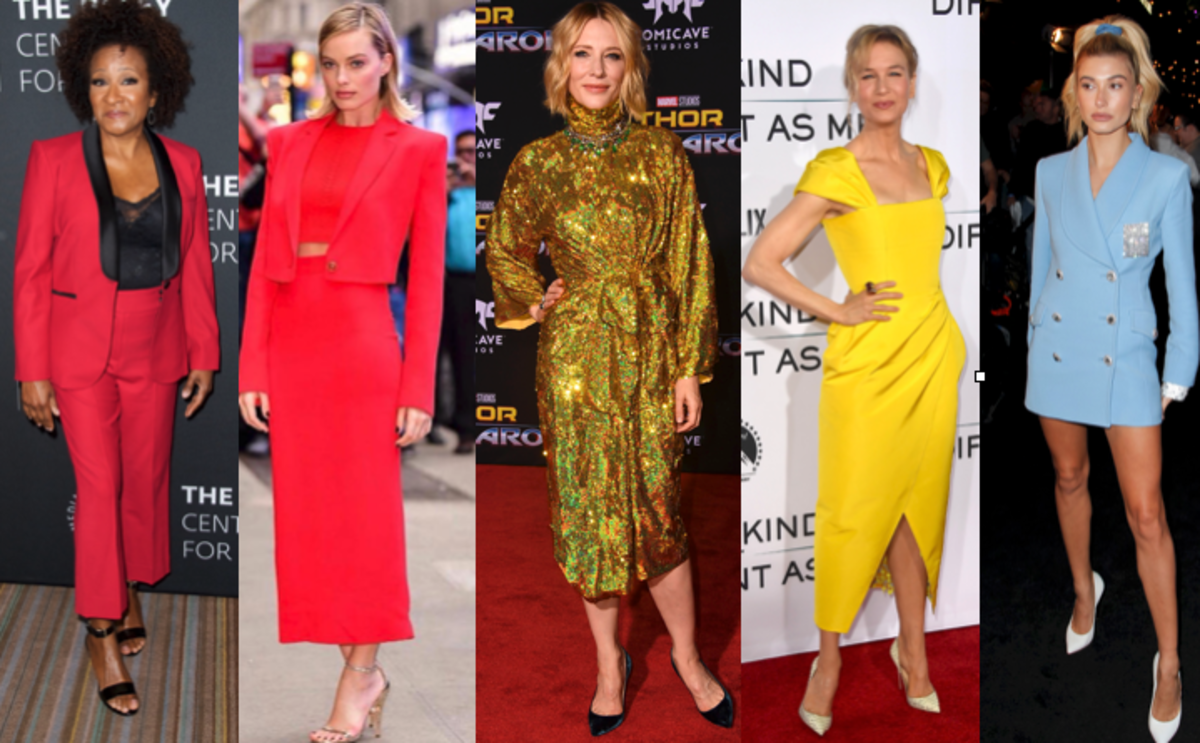 Wanda Sykes, Margot Robbie, Cate Blanchett, Renee Zellwger, Hailey Baldwin. Photos: Getty Images (4), @versace_official/Instagram