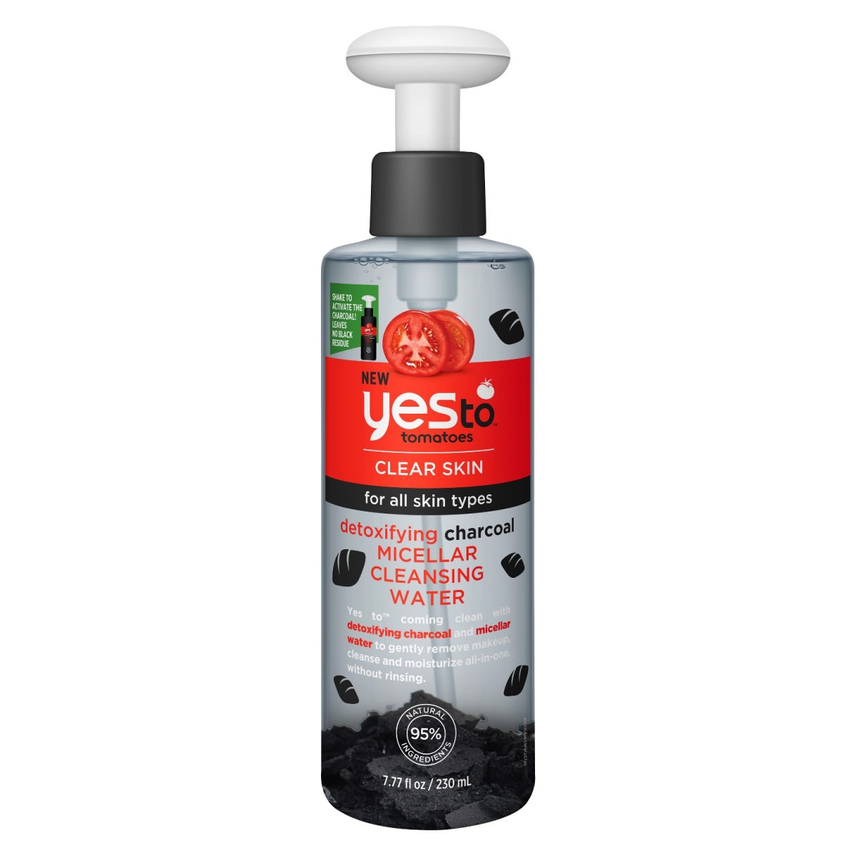 Yes to Tomatoes Detoxifying Charcoal Micellar Cleansing Water, $8.99, available at Target.