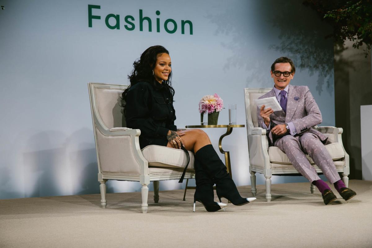 Rihanna and Hamish Bowles. Photo: Corey Tenold/Vogue