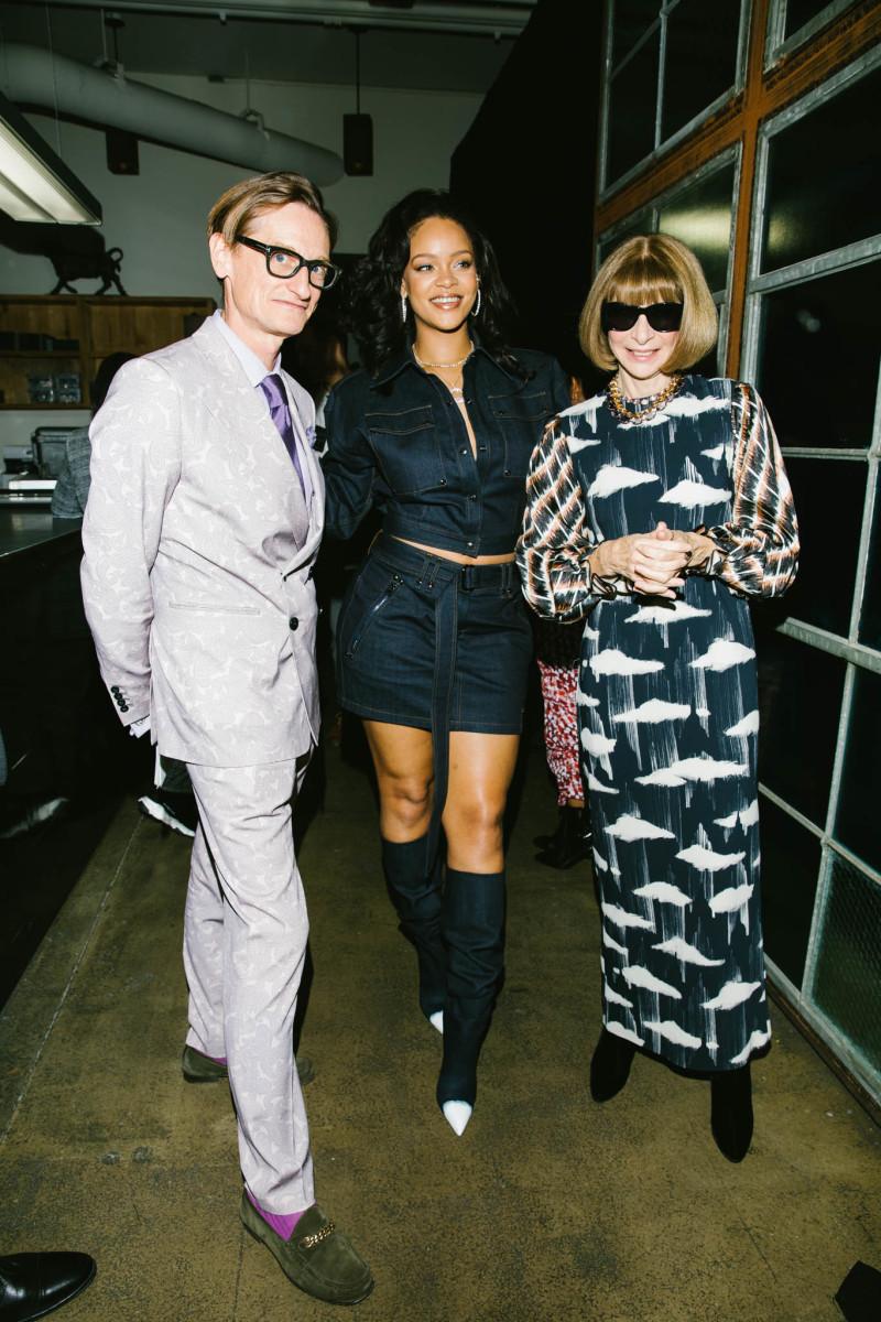 Hamish Bowles, Rihanna and Anna Wintour. Photo: Corey Tenold/Vogue