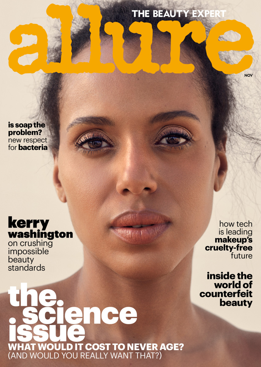 "Kerry Washington on the November cover of 'Allure"". Photo:"