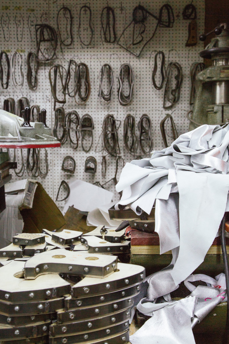 Inside the Modern Vice factory. Photo: Whitney Bauck/Fashionista
