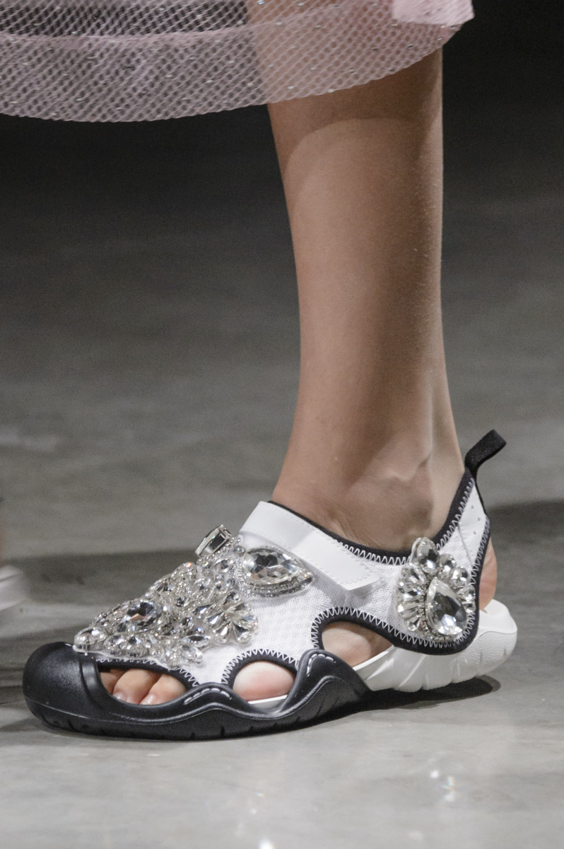 877c777a3331 Christopher Kane x Crocs from Christopher Kane Spring 2018 runway show.  Photo  Imaxtree