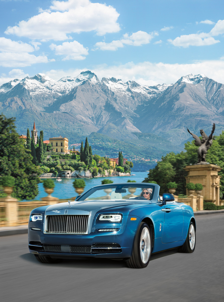 Yours & Mine Rolls-Royce Limited-Edition Dawns, Blue $439,625, available at Neiman Marcus.