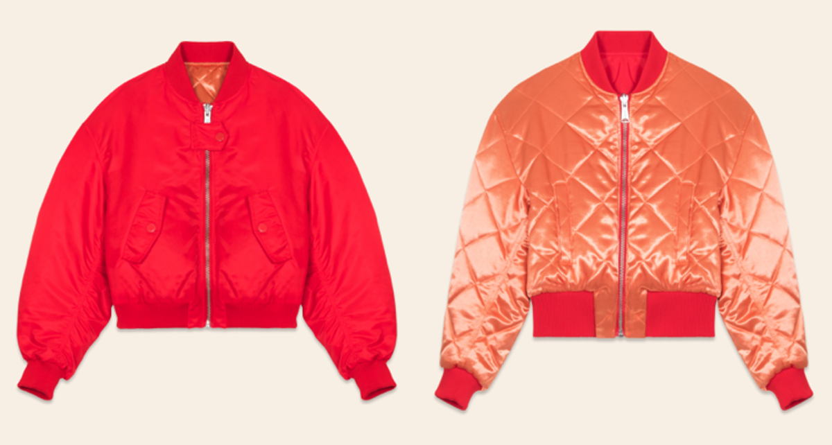 Maje x Schott Cropped Reversible Bomber Jacket, $495, available at Maje.