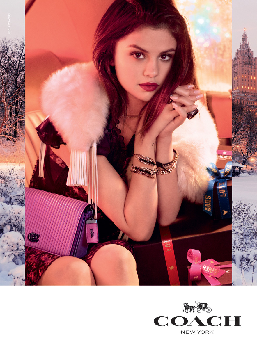 Selena Gomez for Coach's holiday 2017-2018 campaign. Photo: Steven Meisel/Coach