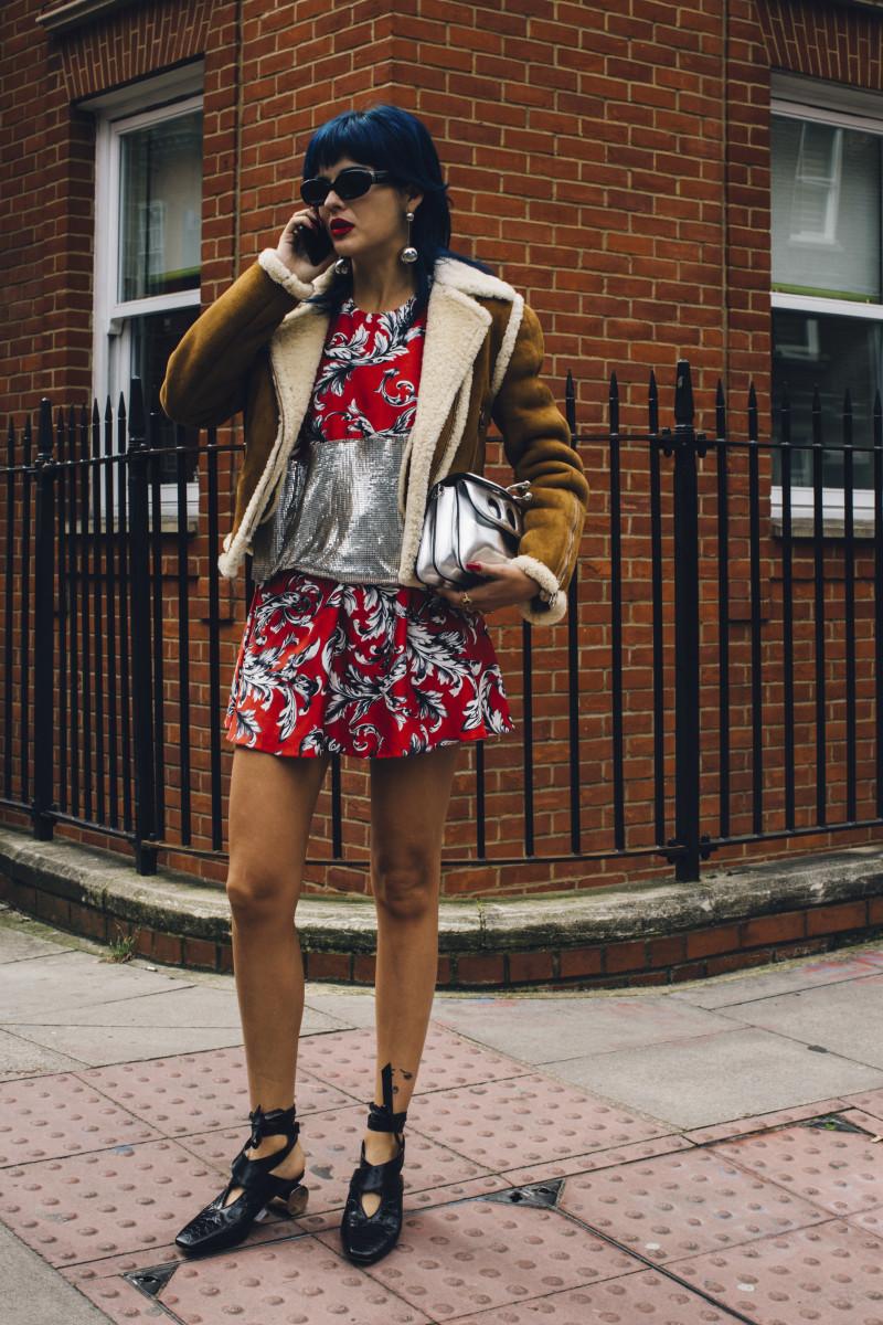 Sita Abellan at London Fashion Week. Photo: Imaxtree