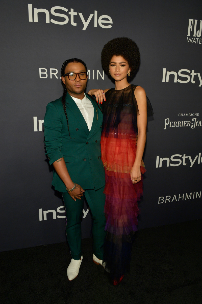 "Law Roach and Zendaya at the 2017 ""InStyle"" Awards on Monday in Los Angeles. Photo: Matt Winkelmeyer/Getty Images for ""InStyle"""