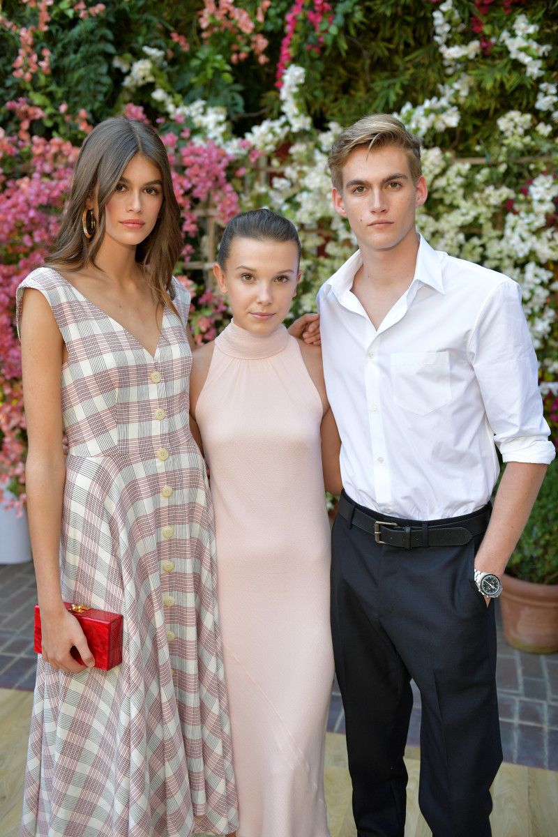 Kaia Gerber, Millie Bobby Brown and Presley Gerber. Photo: Getty Images for CFDA/Vogue