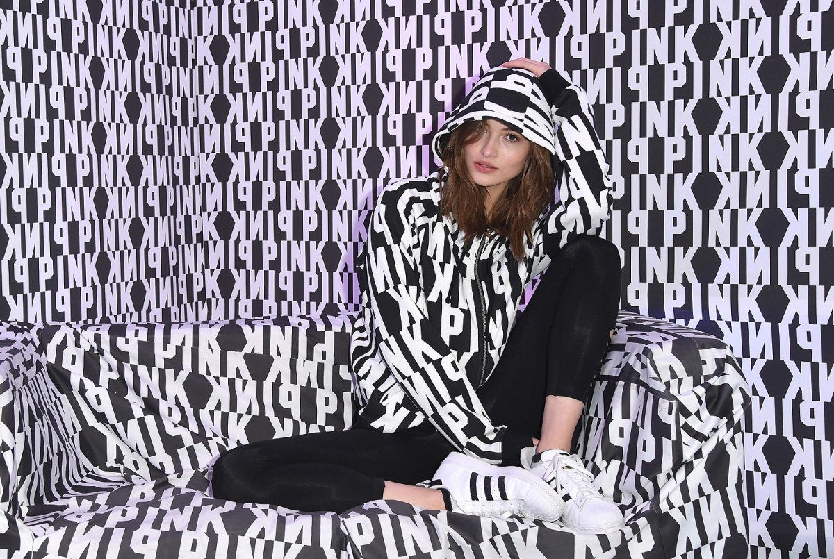 Grace Elizabeth trying to blend in at the Pink Nation University. Photo: Courtesy