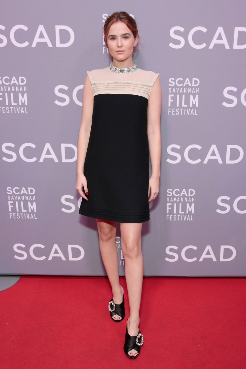 Zoey Deutch in Miu Miu at the 20th Anniversary SCAD Savannah Film Festival. Photo: Cindy Ord/Getty Images