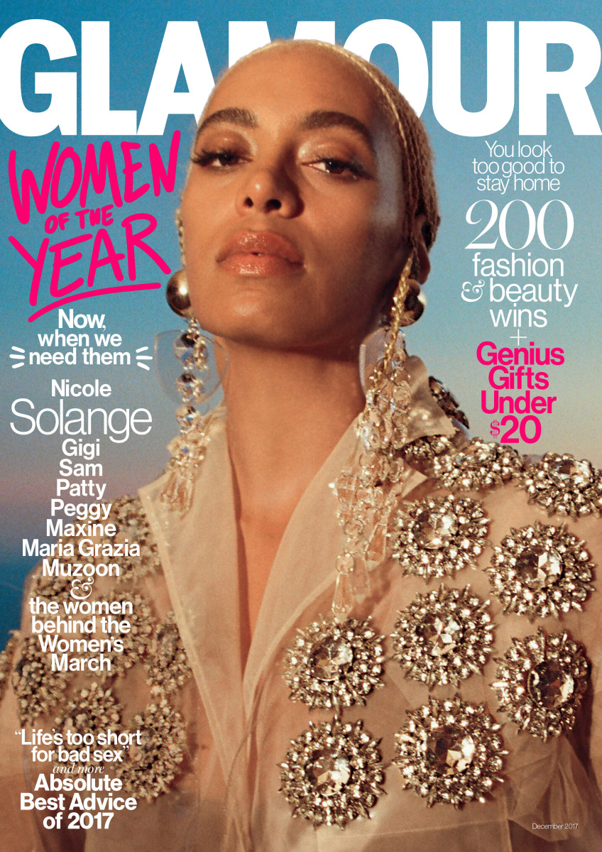 Solange Knowles on the December cover of 'Glamour' magazine. Photo: Petra Collins