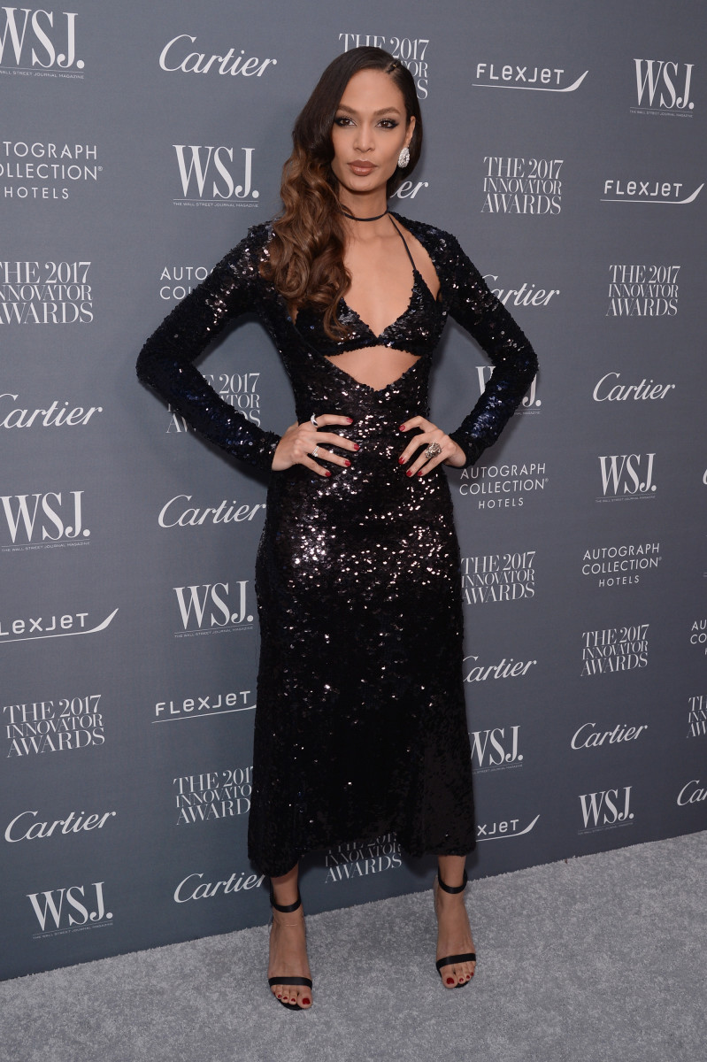 Joan Smalls in Nina Ricci. Photo: Andrew Toth/Getty Images for WSJ. Magazine 2017 Innovator Awards