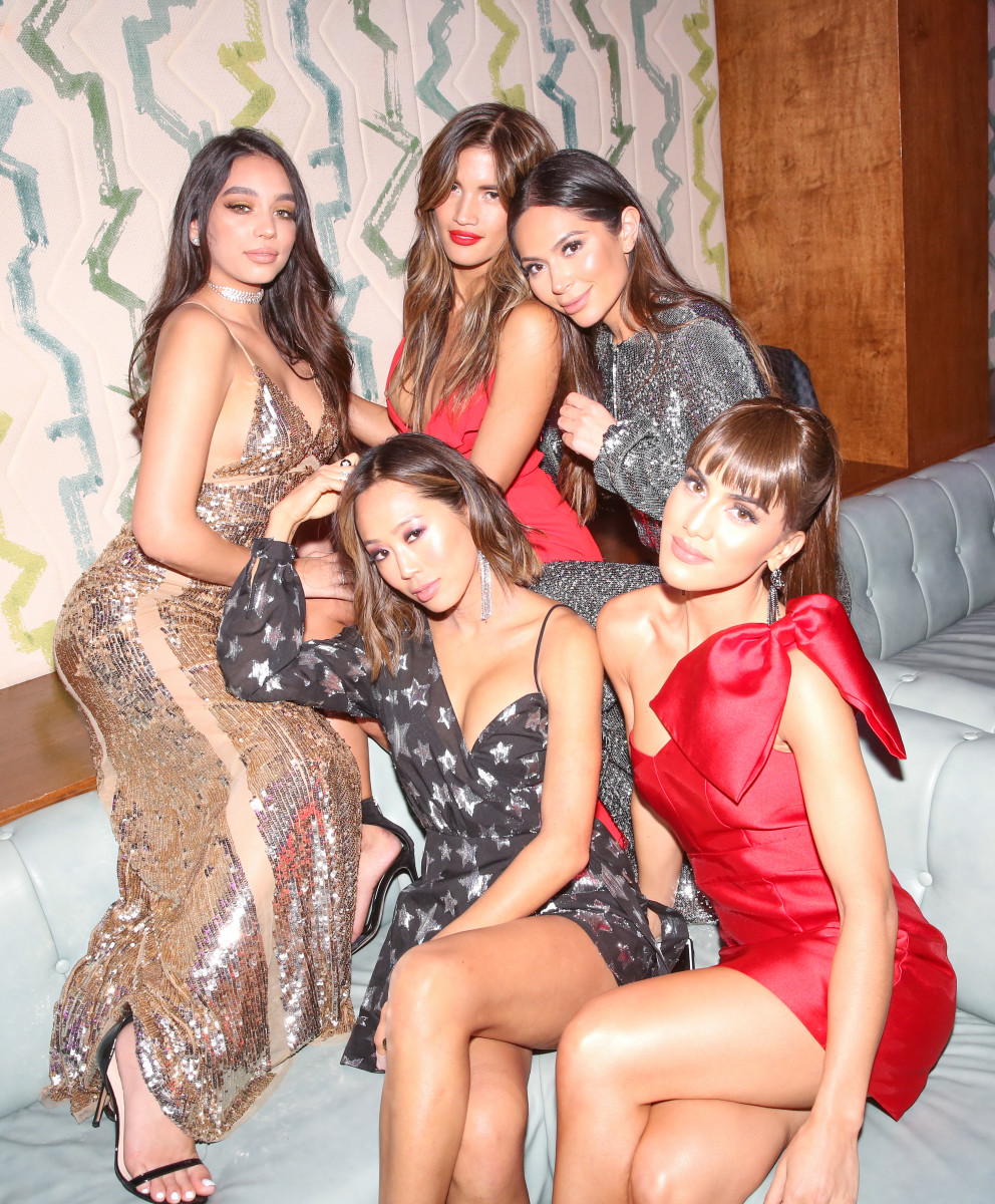 Janice Joostema, Rocky Barnes, Marianna Hewitt, Camila Coelho and Aimee Song. Photo: Courtesy of Revolve.