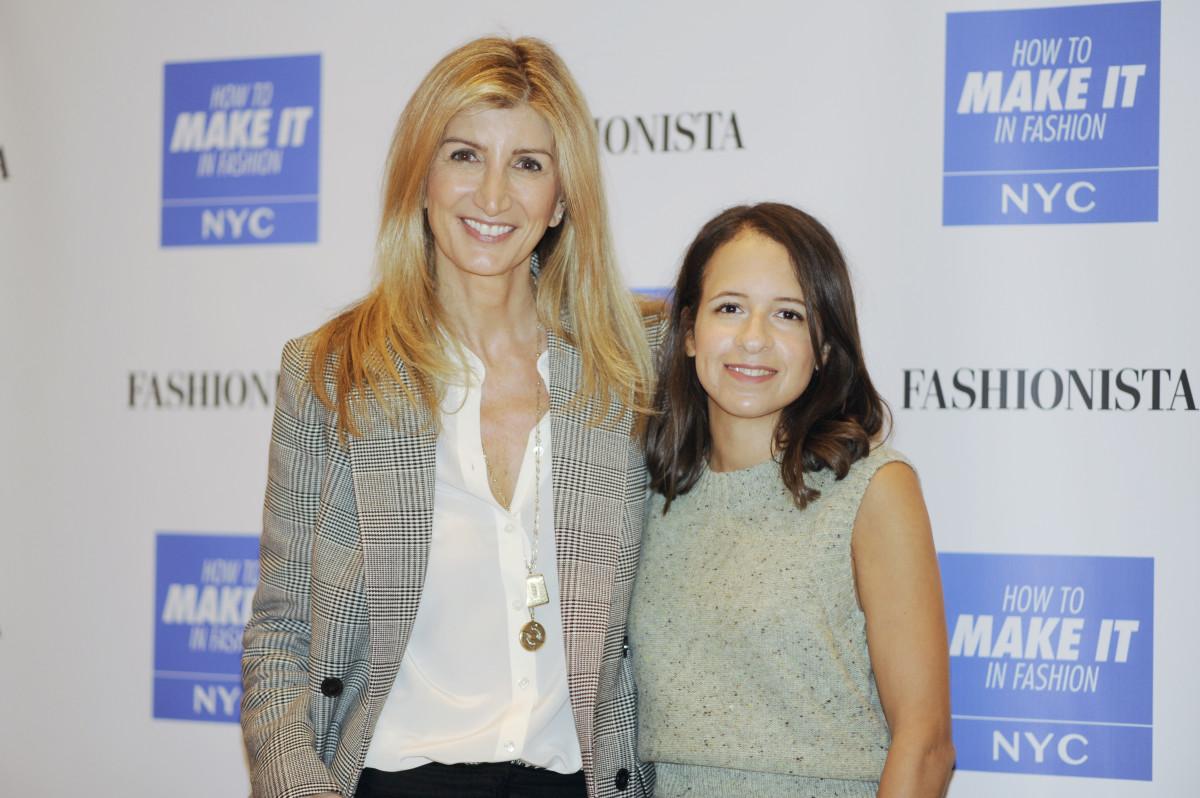 Sarah Rutson and West Coast Editor Dhani Mau at FashionistaCon 2017. Photo: Ashley Jahncke/Fashionista