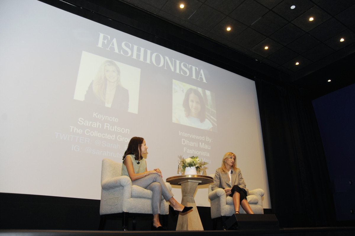 West Coast Editor Dhani Mau and Sarah Rutson at FashionistaCon 2017. Photo: Ashley Jahncke/Fashionista