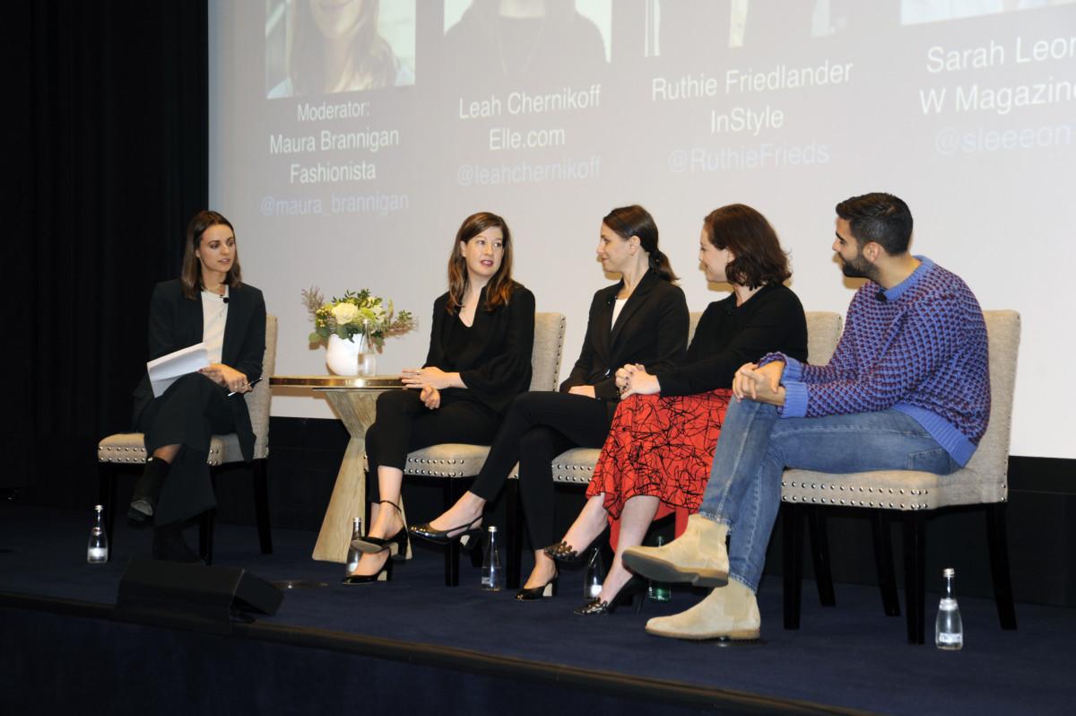 Fashionista Senior Editor Maura Brannigan with editors at FashionistaCon 2017. Photo: Ashley Jahncke/Fashionista