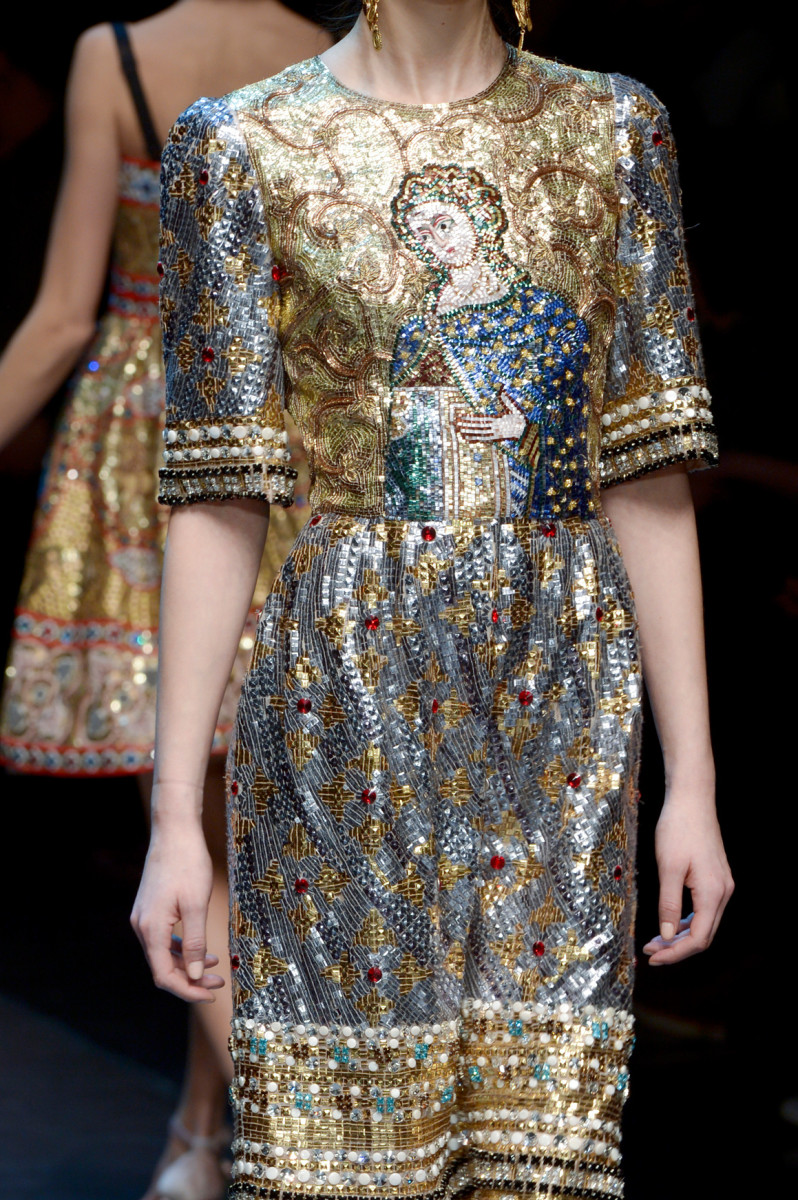 A look from Dolce & Gabbana's Fall 2013 collection. Photo: Imaxtree