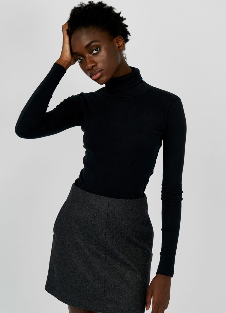 Fitted turtleneck, $45, available at Kotn