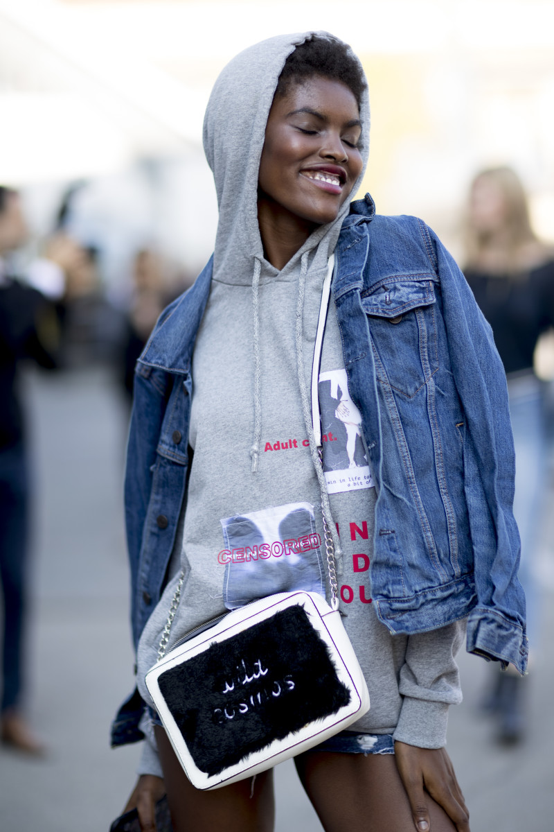 Amilna Estevão at Milan Fashion Week. Photo: Imaxtree