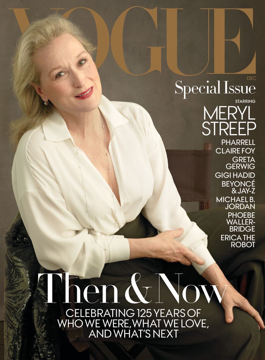 "Meryl Streep on ""Vogue""'s December 2017 cover. Photo: Annie Leibovitz/""Vogue"""