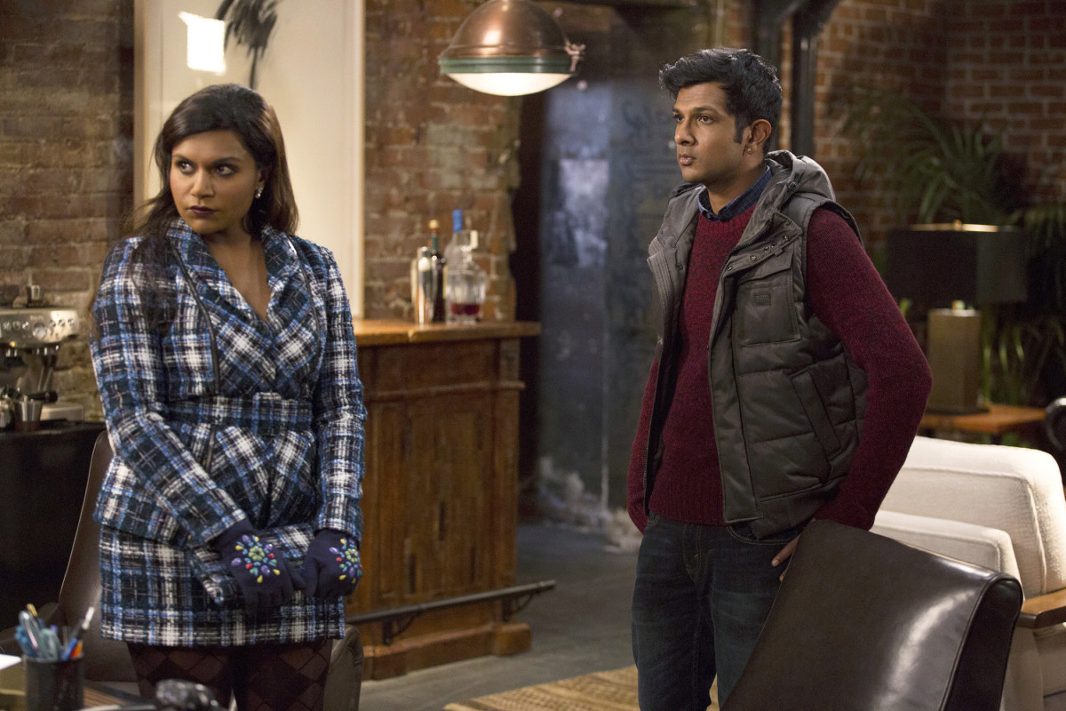 Mindy and her bro Rishi (Utkarsh Ambudkar). Photo: John Fleenor/NBC/NBCU Photo Bank