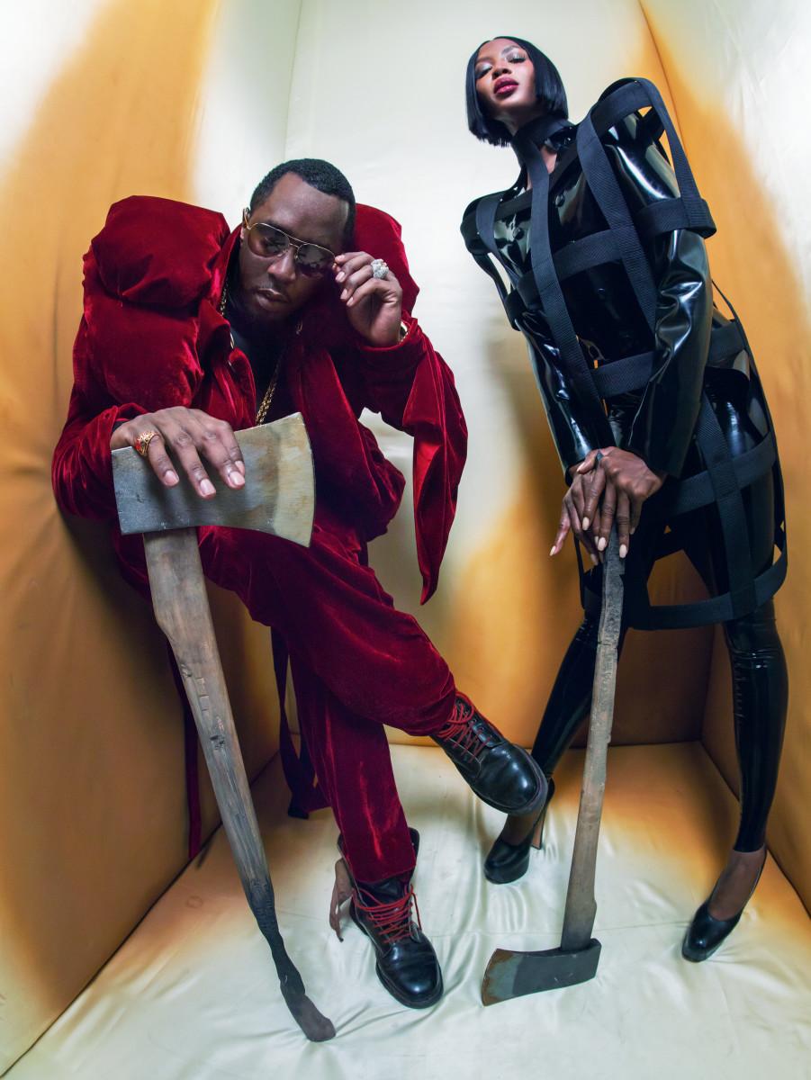 "Sean ""Diddy"" Combs and Naomi Campbell in the 2018 Pirelli Calendar. Photo: Tim Walker/Pirelli"