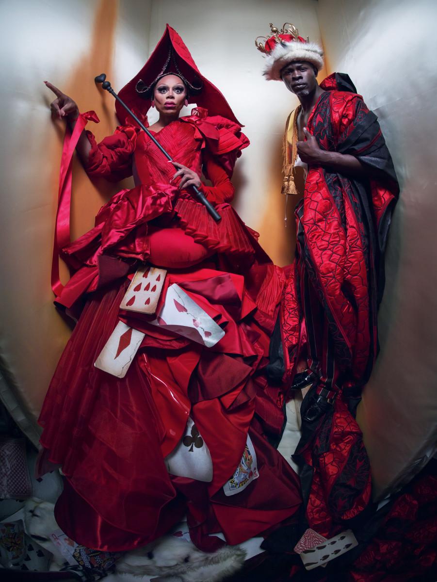 RuPaul and Djimon Hounsou in the 2018 Pirelli Calendar. Photo: Tim Walker/Pirelli