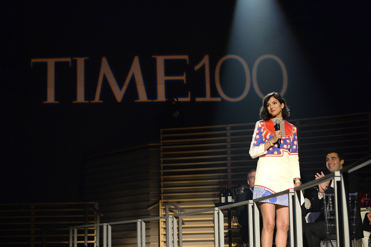 Radhika Jones speaks at the 2016 Time 100 Gala. Photo: Kevin Mazur/Getty Images