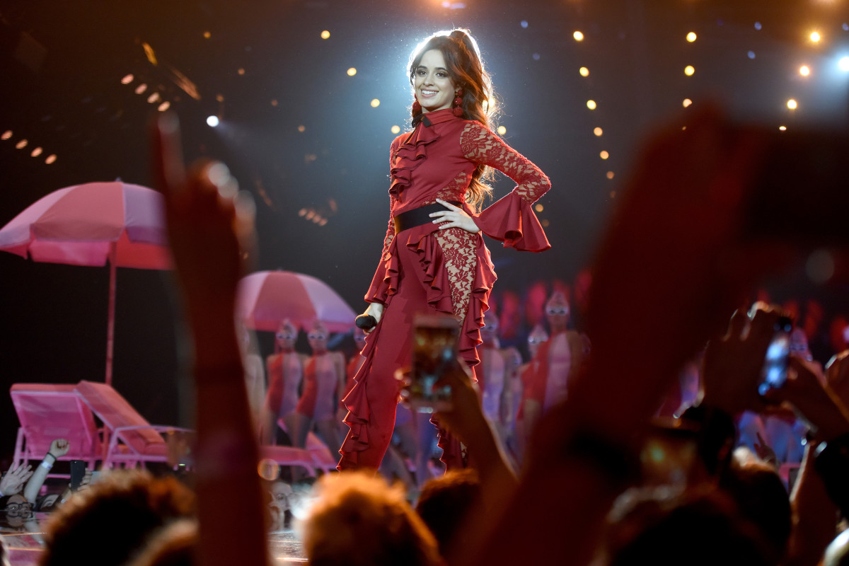 Camila Cabello performs at the 2017 MTV EMAs. Photo: Dave J Hogan/Getty Images