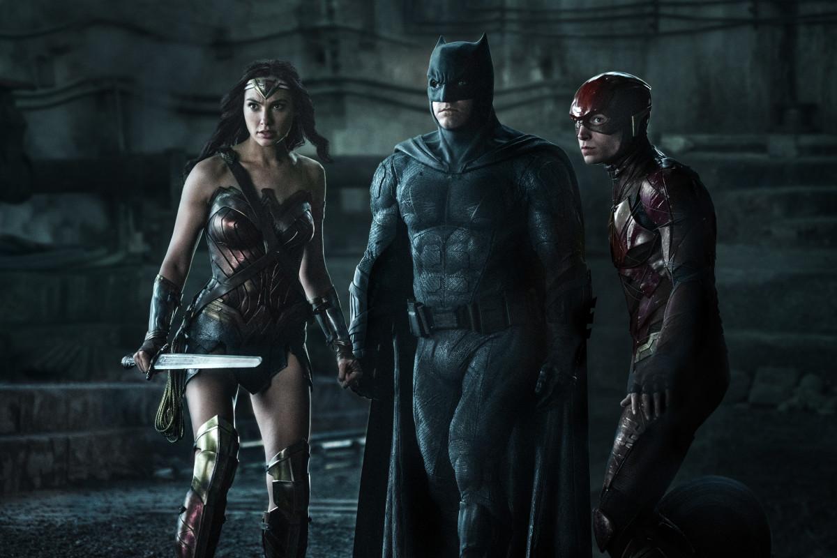 Wonder Woman, Batman and The Flash. Photo: Clay Enos/ TM & © DC Comics