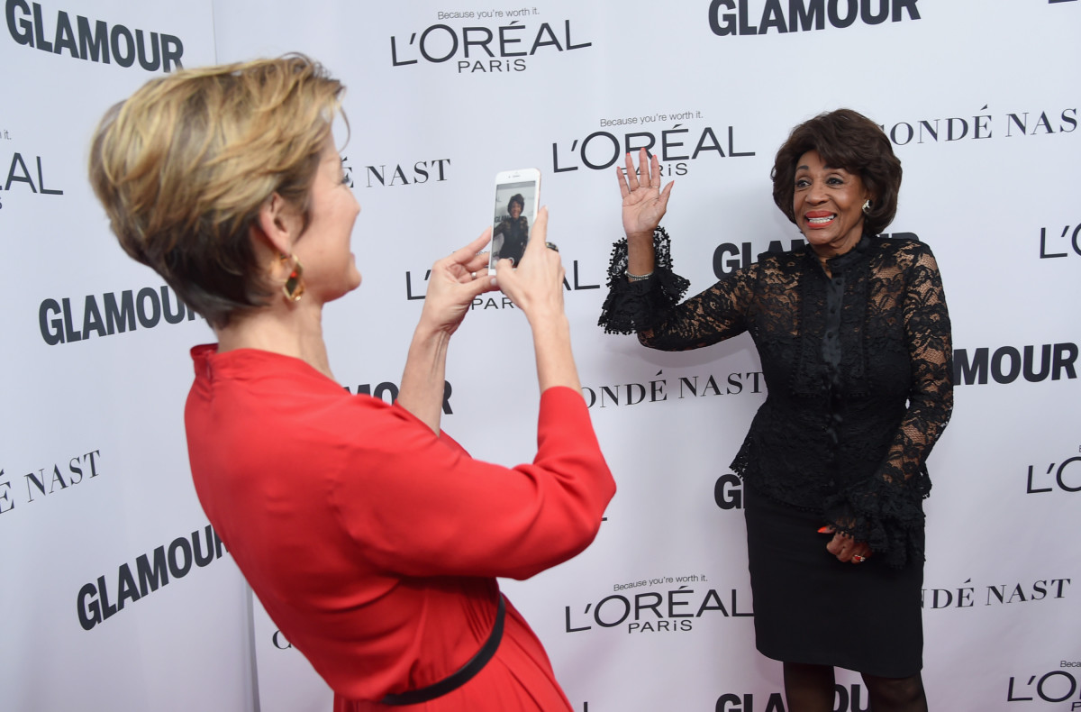 Cindi Leive and Congresswoman Maxine Waters. Photo: Jamie McCarthy/Getty Images