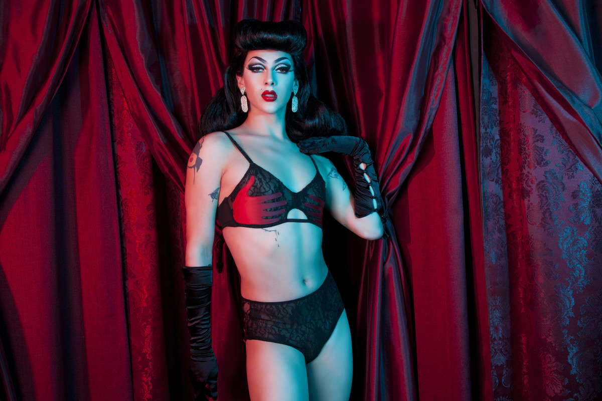 Violet Chachki for Bettie Page Lingerie. Photo: Anna Swiczeniuk/Playful Promises