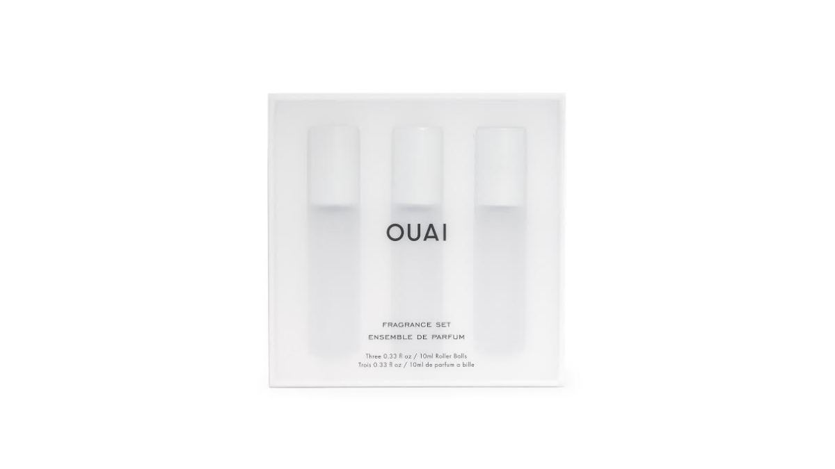The new Ouai Fragrance Set. Photo: Courtesy of Ouai