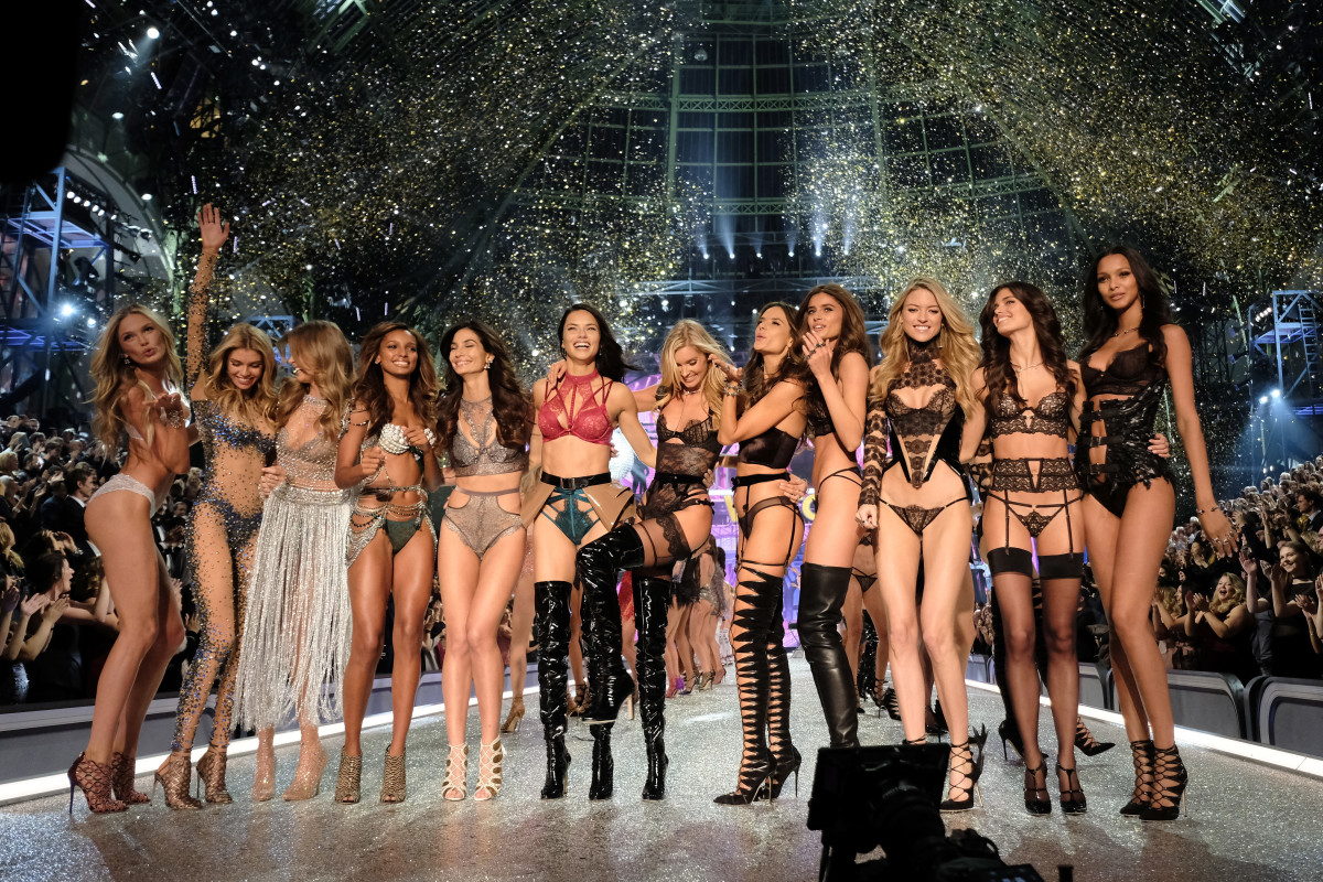 Models walk in the 2016 Victoria's Secret Fashion Show. Photo: Dimitrios Kambouris/Getty Images