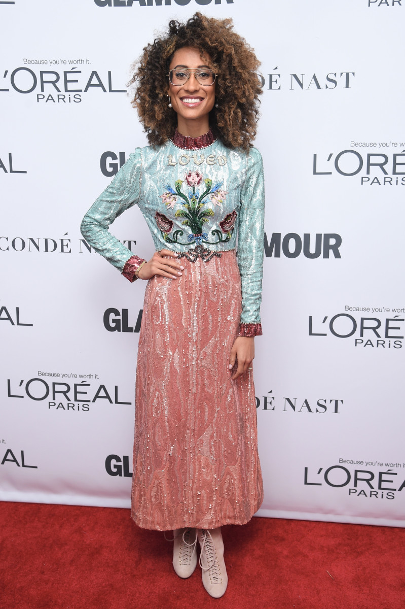 Elaine Welteroth at Glamour's 2017 Women of the Year Awards in Brooklyn, New York. Photo: Dimitrios Kambouris/Getty Images