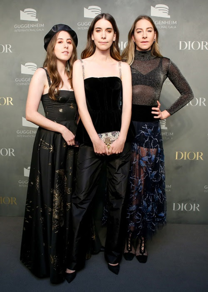 Haim in Dior at the Guggenheim International Gala Pre-Party. Photo: Courtesy of Dior