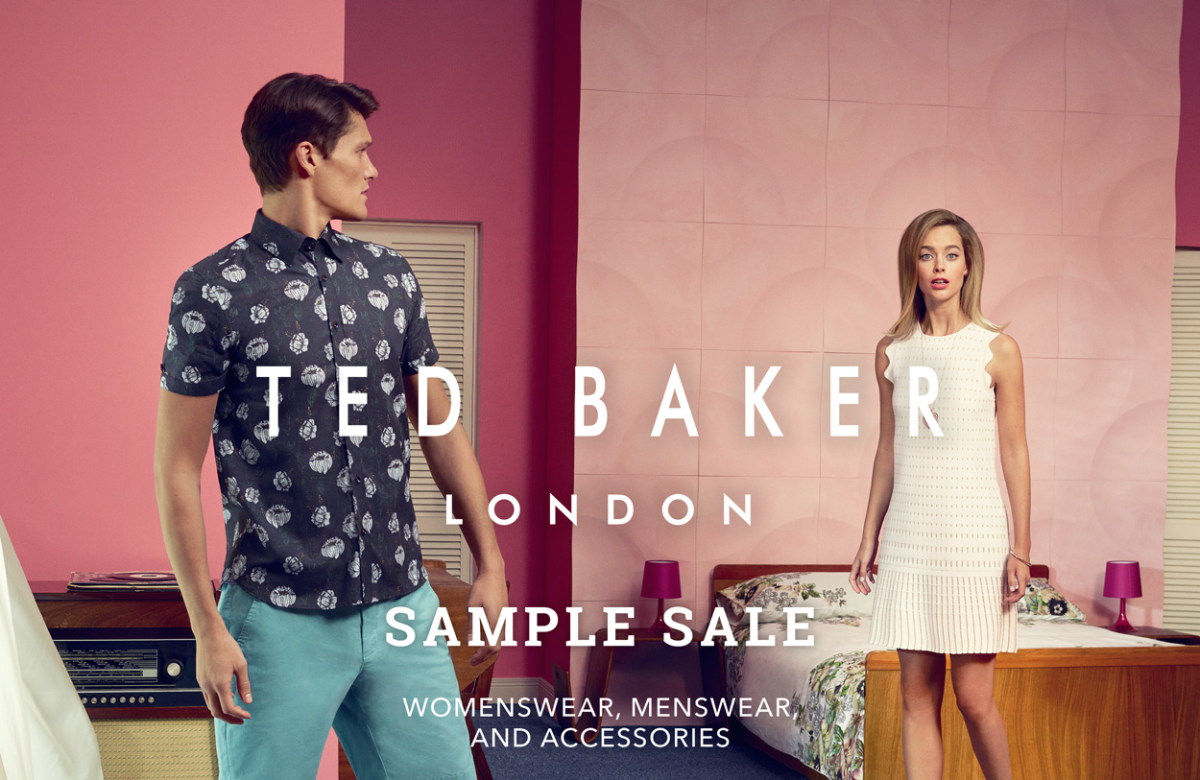 077b308b1c26 TED BAKER SAMPLE SALE  DON T MISS THE MOST ANTICIPATED DEAL-HAPPY EVENT!