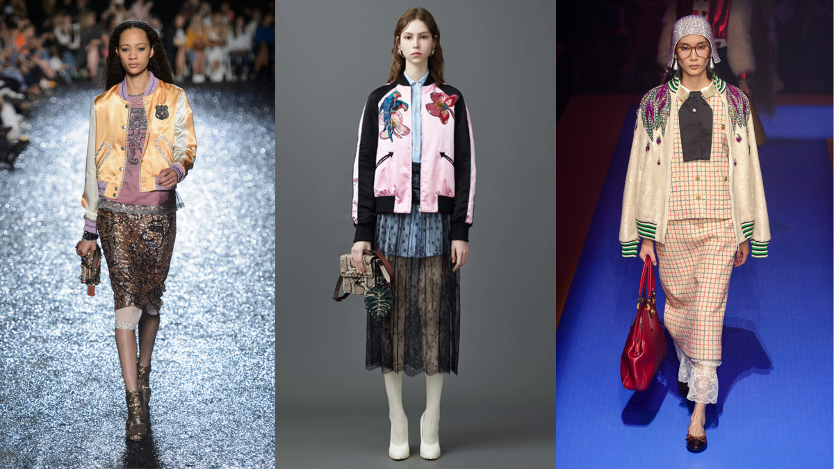 L-R: Coach Spring 2018, Valentino Resort 2017, Gucci Spring 2018. Photos: Imaxtree and Valentino